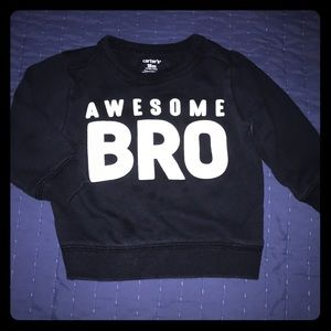 "18 Month Carters Crew Neck Sweater ""Awesome Bro"""